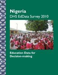 Education Data Survey 2010 (Nigeria)