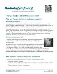 Therapeutic Enema for Intussusception - RadiologyInfo