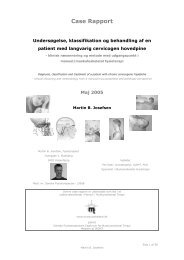 Case Rapport - Fagforum for Muskuloskeletal Fysioterapi