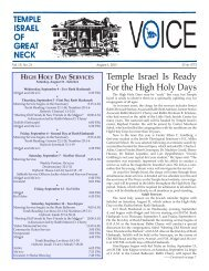 August 1 - Temple Israel of Great Neck