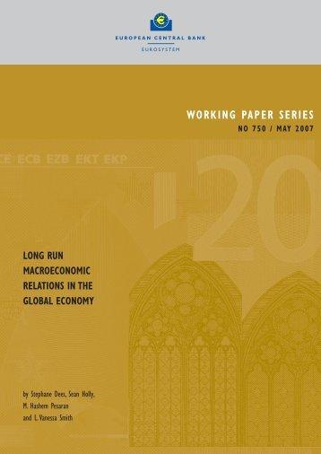 Long run macroeconomic relations in the global economy - EULib.com