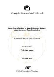 R5_TR 10-2010.pdf - Istituto di Informatica e Telematica - Cnr