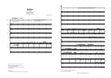 Judas partitur - Stefan Klaverdal