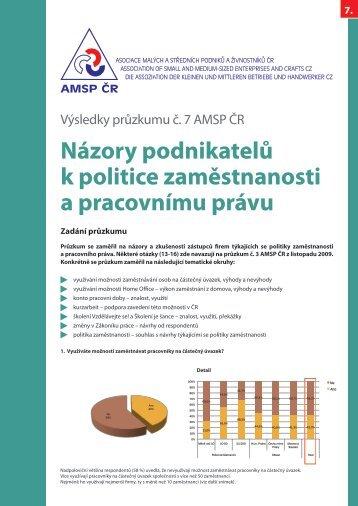 Výsledky 7. průzkumu AMSP ČR - Asociace malých a středních ...