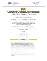 100 CGAs - Certified General Accountants Association of Canada