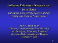 Influenza Laboratory Diagnosis and Surveillance