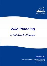 A practical planning toolkit for volunteers - Scottish Wildlife Trust