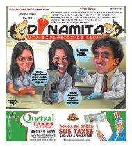Junio, 2013 Ed. 35 Titulares - Dinamita Magazine