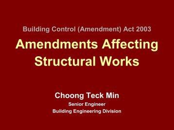 Amendment Affecting Structural Works - Building & Construction ...