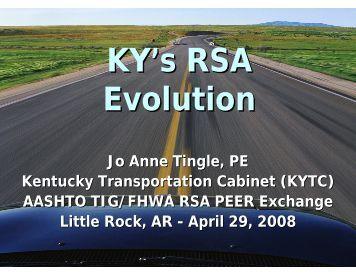Jo Anne Tingle, PE Kentucky Transportation Cabinet (KYTC ...