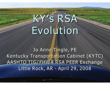 Jo Anne Tingle, PE Kentucky Transportation Cabinet (KYTC ...