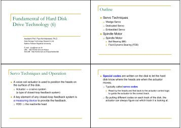 Fundamental of Hard Disk Drive Technology (6)