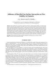 Influence of Rarefied Gas-Surface Interaction on Flow Stability in ...