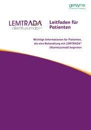 Download LEMTRADA ® -Leitfaden für Patienten - MS-Begleiter