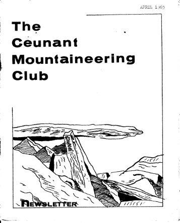 April 1965 - Ceunant Mountaineering Club