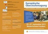 Europäische Oberstufentagung - Bund der Freien Waldorfschulen