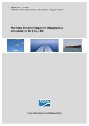 Maritima förutsättningar för utbyggnad av infrastruktur för LNG/LBG