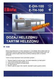 DOZAJ HELEZONU TARTIM HELEZONU E-DH-100 E-TH ... - Elimko