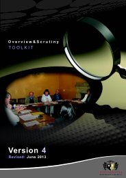 Overview and Scrutiny Toolkit - Northampton Borough Council