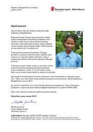NEPAL ja BANGLADESH kummikirje 2/2011 - Pelastakaa Lapset ry