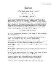 Strategic Plan - Gifted Education Resource Institute - Purdue ...