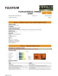 FUJIFILM SERICOL THINNER - ZV557 - FUJIFILM Australia