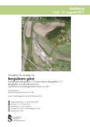 Utställningshandling detaljplan för Bergsåkers gård - Sundsvall