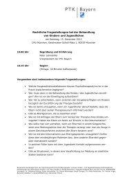 Programm zur Veranstaltung - PTK Bayern
