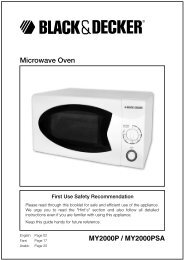 Microwave Oven MY2000P / MY2000PSA - Service