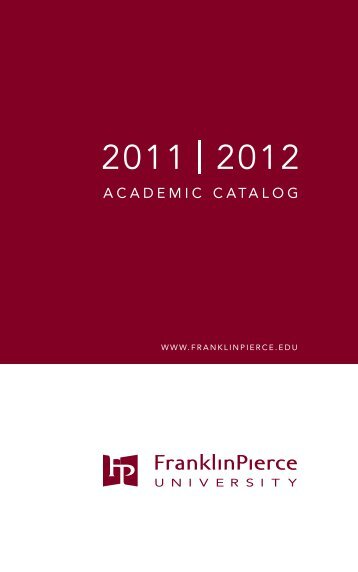 2011-2012 PDF - Franklin Pierce University