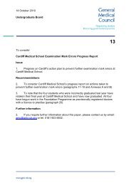 Cardiff Medical School Examination Mark Errors Progress Report