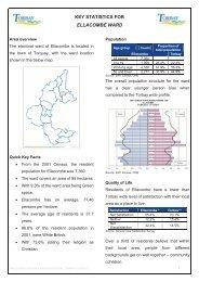 KEY STATISTICS FOR ELLACOMBE WARD - Torbay Council