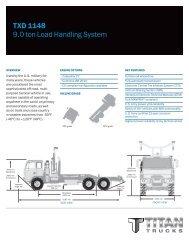 TXD 1148 9.0 ton Load Handling System