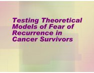 Testing a Stress and Coping Model of Fear of Recurrence in Young ...