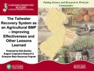 Tailwater Recovery System - National Water Program