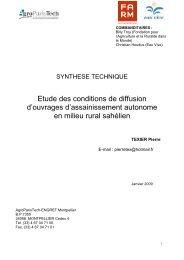 Etude des conditions de diffusion d'ouvrages d ... - Fondation FARM