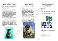 Viele offene Fragen Wilde Krieger Bund Naturschutz Vilsheim