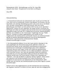 Prof. Dr. Claus Offe - Ideenschmiede