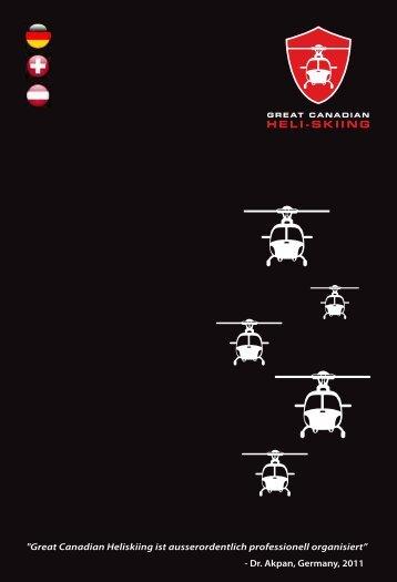 Great Canadian Heli-Skiing - Broschüre auf Deutsch