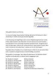 Begrüßung - Deutsche Alzheimer Gesellschaft Landesverband ...