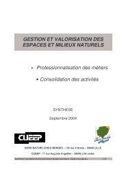 GESTION ET VALORISATION DES ESPACES ET MILIEUX ... - C2RP