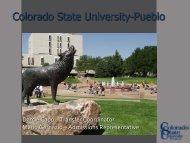 Colorado State University-Pueblo - Admissions - Colorado State ...