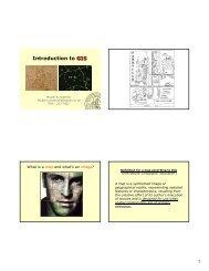 Introduction to GIS GIS