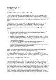Comité scientifique des IREM PISA Yves OLIVIER