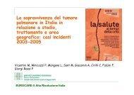 4 La sopravvivenza del tumore polmonare in Italia - Associazione ...