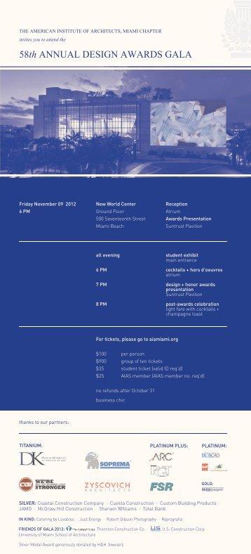 AIA Miami Design Gala - invitation.indd