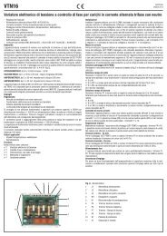 Variatore elettronico di tensione a controllo di fase per ... - Relco