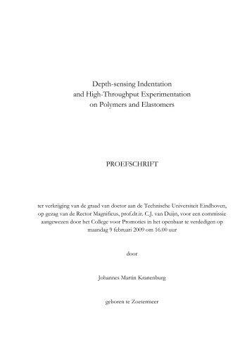 Depth-sensing Indentation and High-Throughput ... - TU/e