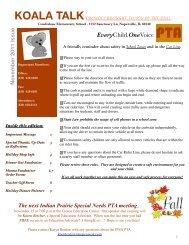 Koala Talk November 2011 - Cowlishaw Elementary School
