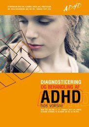 diagnoSTicering og BehandLing af - ADHD: Foreningen